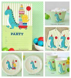 Super cute Dinosaur Party Pack