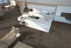 Vloer in keramische tegel. Unieke kleur. De bruine tegel zorgt voor een warme sfeer en is onderhoudsvriendelijk. Modern, stijlvol en makkelijk in onderhoud. www.artstone.be  Kitchen, Home Idea, inspiration.