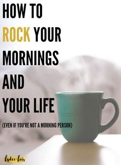 Feel like you can never stop hitting snooze? Constantly feel like your mornings are wasted by scrolling through your feed procrastinating the day? Let me help rock your mornings with developing the right habits to rock your life! Evening Routine, Night Routine, Morning Routines, Daily Routines, Morning Habits, Miracle Morning, Morning Ritual, Early Morning, How To Become Happy