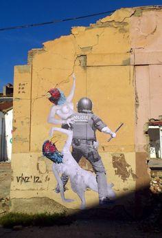 Vinz – The Rape of The Sabine Women New Mural @ Barcelona, Spain