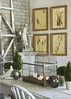 spring decor. I want an antique birdcage that doesn't cost a hundred bucks!