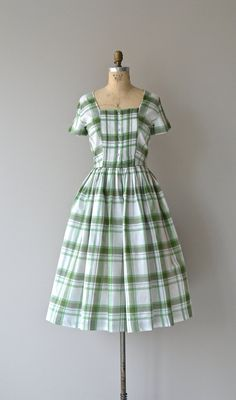 Good Neighbor dress vintage 50s dress 1950s plaid by DearGolden