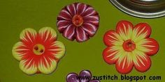 Zuleykha's polymer clay: Two tutorials in one post - flower canes and daisy buttons