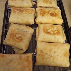 Baked Chicken Chimichangas, these were great. Used a hand mixer to easily mix ingredients. Recipe doesn't list chicken amount but I use 3-4 cups from rotisserie chicken.