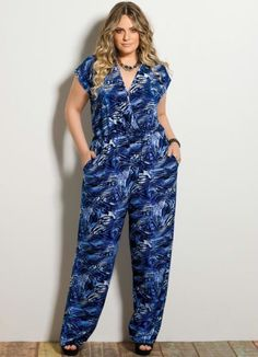 macacao estampado plus size