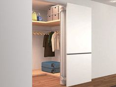 swing out door hinge flush with the wall