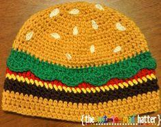 3466a55950b The Cheeseburger Hat (Crochet Pattern)