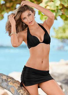 Black Beauty Marilyn Push Up Bra Top Bikini Swimsuit Cover Ups, Swimsuit Tops, Swim Bottoms, Bikini Bottoms, Bikini Bottom Styles, Push Up Bikini Tops, Bikinis, Swimwear, Sensual