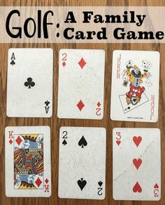 Golf is a great family card game for those who are 8 years old and older. Golf is a fun card game for families to play. Nine rounds (holes) are played and the person who has the lowest score at the end is the winner. Family Card Games, Fun Card Games, Card Games For Kids, Playing Card Games, Best Family Games, Golf Games For Kids, Fun Crafts For Kids, Kids Fun, Family Fun Night