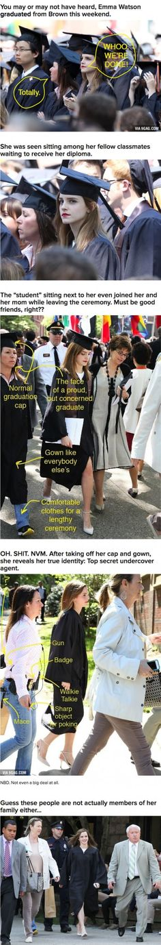 Emma Watson's Graduation Pal Was Actually An Undercover Bodyguard