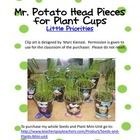 These Mr. Potato Head pieces were designed by my brother, Marc Kienast!  Use the pieces to glue to clear plastic cups when planting grass seed.  Ha...