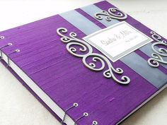 Purple Wedding Guest Book made to order by EnvelopeGuestBooks, $49.00