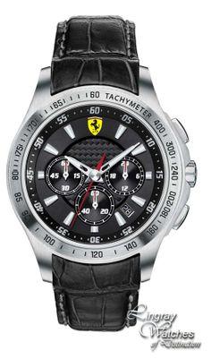 Scuderia Ferrari Mens Leather SF 105 'Scuderia' Watch - 0830039  Online price: £275.00  www.lingraywatches.co.uk