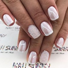 39 Top Newest Homecoming Nails Designs Popular Homecoming Nail Trends picture 1 de arte de uñas Gorgeous Nails, Pretty Nails, Pretty Toes, Nagellack Trends, Wedding Nails Design, Wedding Manicure, Simple Wedding Nails, Wedding Nails For Bride, French Tip Nails