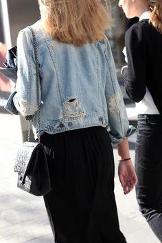 black maxi and jacket