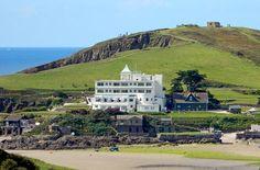 Burgh Island, Devon, original1930s hotel and location used in Agatha Christie 'Evil under the sun'