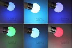 lámpara led rgb 16 colores que cambian 3w e27 + 24 llave r