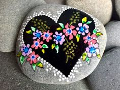 Tender hearted / painted stones/painted rocks/altar stones/m Pebble Painting, Dot Painting, Pebble Art, Stone Painting, Painted Rocks Craft, Hand Painted Rocks, Painted Stones, Painted Pebbles, Rock Painting Patterns
