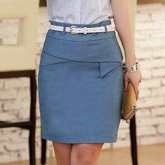 Moda de verano diseño de la correa envuelta de ladelgada Office Lady Formal faldas lápiz )