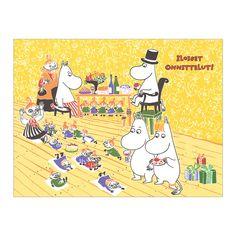 Moomin ムーミン グリーティングカード ムーミン(セレブレーション) | 北欧雑貨|北欧デザインに限定した北欧雑貨通販サイト