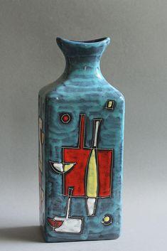 Marcello Fantoni; Glazed Ceramic Vase, 1950s.