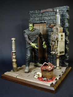 Frankenstein - Son Of Frankenstein Model Of The Monster In Dr. Frankenstein's Lab
