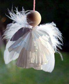 Des anges de papier! Ange de dentelle et Ange à plumes! 2 tutoriels!