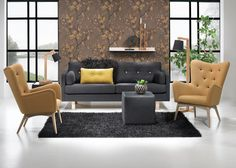 Vega sofa and Dixie chair by Top-line. Furniture, Outdoor Sectional Sofa, Sofa, Sofas And Chairs, Living Room Decor, Home Decor, Home Deco, Room Decor, Interior Design