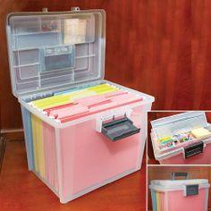 PORTABLE SEE THRU FILE BOX | Taylor Gifts