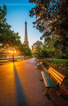 Morning Light in Paris, France