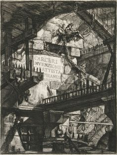 Visualizing opium dreams through the etchings of Piranesi. Pictured: Title Plate.