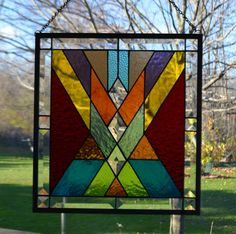Stained Glass Panel Multi Colored | eBay