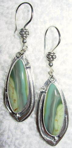 1 DAY ONLY AUCTION Chelle' Rawlsky royal imperial jasper sterling silver earrng  #ChelleRawlsky