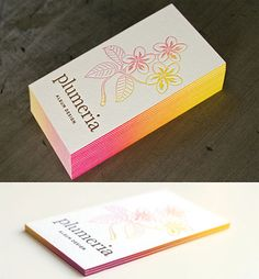 Gradient Edge Painted Business Card | Business Cards | The Design Inspiration