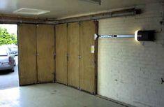 Sliding Garage Doors, Sliding Wall, Garage Door Styles, Garage Door Design, Barn Garage, Garage Workshop, Track Door, Slider Door, Classic Doors