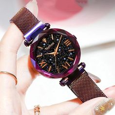 🥇Buy Watches ✅ Fashion Starry Sky Watch Women Quartz Luxury Band 2019 New Trend Magnetic Mesh Rose Gold Zegarek Damski Creative Digital Lovers Stylish Watches, Luxury Watches For Men, Cool Watches, Women's Watches, Fashion Watches, Elegant Watches, Cheap Watches, Wrist Watches, Analog Watches