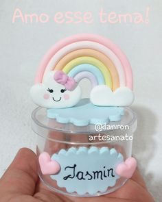 Cloud Party, Rainbow Birthday Party, Custom Candles, Ideas Para Fiestas, Clay Flowers, Air Dry Clay, Cake Smash, Shower Party, Baby Room