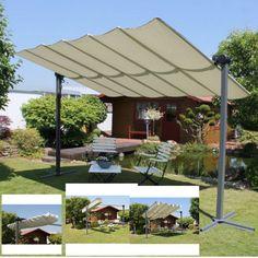 Outdoor-Canopy-Tent-Sun-Shade-Gazebo-Patio-Garden-Adjustable-Aluminium-Parasol