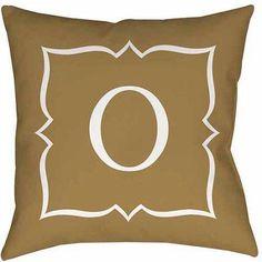 Thumbprintz Gold Script II Monogram Decorative Pillows