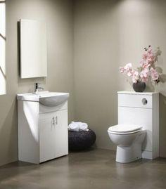 Tavistock Opal 500/600mm Ceramic Cloakroom Suite (Gloss White)