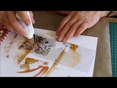 Alcohol inks on acetate with Kerrie - YouTube