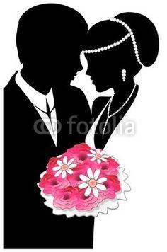 #Weddings #Married #Couple-Vector © bluedarkat