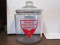 Tom's Peanut Butter Sandwiches 1 Gal Jar w Lid Toms Lance Peanut Frito Store | eBay