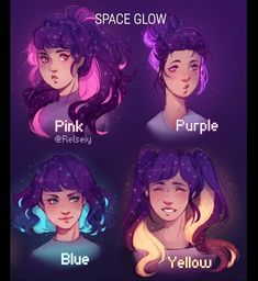 "SCROLL! Gradient Gals, Flower Crowns and Space Glow, Which is your fav THEME from these ""Which is your fav"" posts? I'm taking a short break from drawing because of traveling which is why I'm not posting much, i might reposts some fav illustrations from the past year."