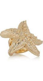 €190 VERSACE  Starfish gold-tone ring