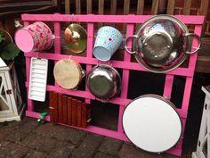 Music Wall for an Early years garden. #music #EarlyYears #Garden #OutdoorArea