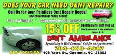 Effective and Inexpensive auto body repairs.