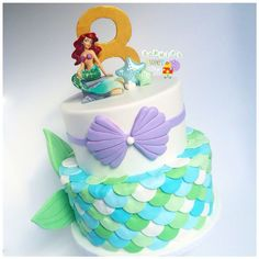 little mermaid cake  mermaid scales  sea cake [instagram: @sophiesweetshop and sophiesweetshop.com in carson, california]