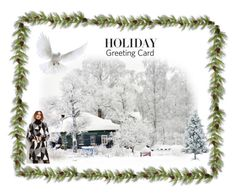 """""""Merry Christmas"""" by gesray ❤ liked on Polyvore featuring art, holidaygreetingcard and PVStyleInsiders"""