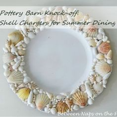 knock-off Pottery Barn chargers - I would LOVE to do something similar on a mirror in the bathroom